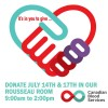 Friday July 17th  – Blood Donor Clinic