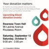 Saturday, October 3rd – Blood Donor Clinic