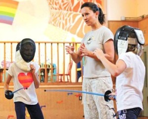 My Fencing Katya teaching