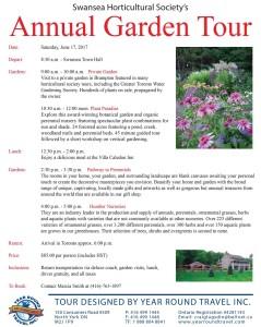 Swansea Horticultural Society - Annual Garden Tour 2017