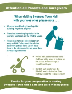 Strollers and Diapers at Swansea Town Hall poster